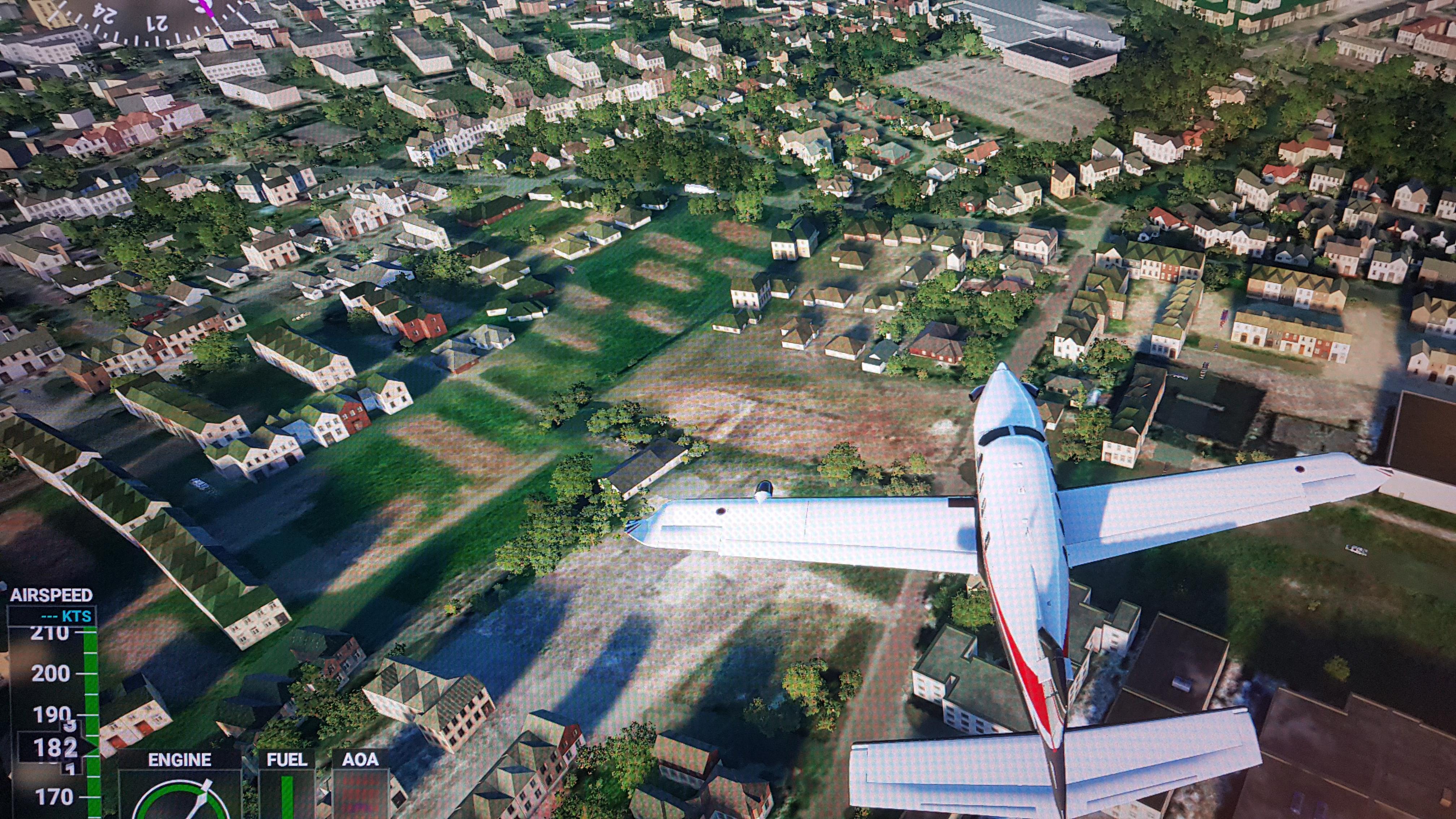 Boven park Reehorst. Als je goed zoekt kun je ons huis zien. Iets links (en dan iest hoger) van het exacte midden van deze foto